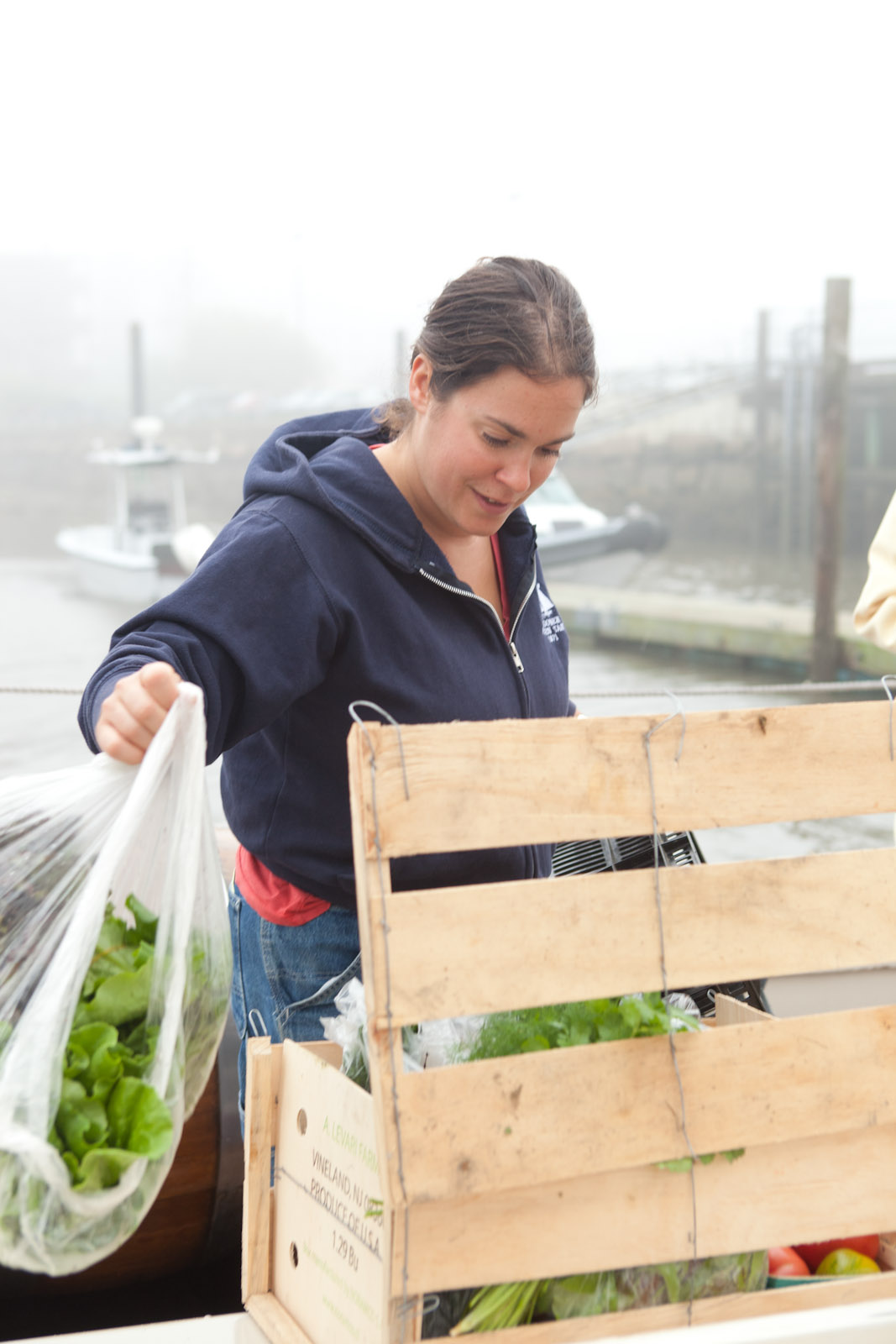 Fresh Maine produce is delivered dockside at the start of each cruise.