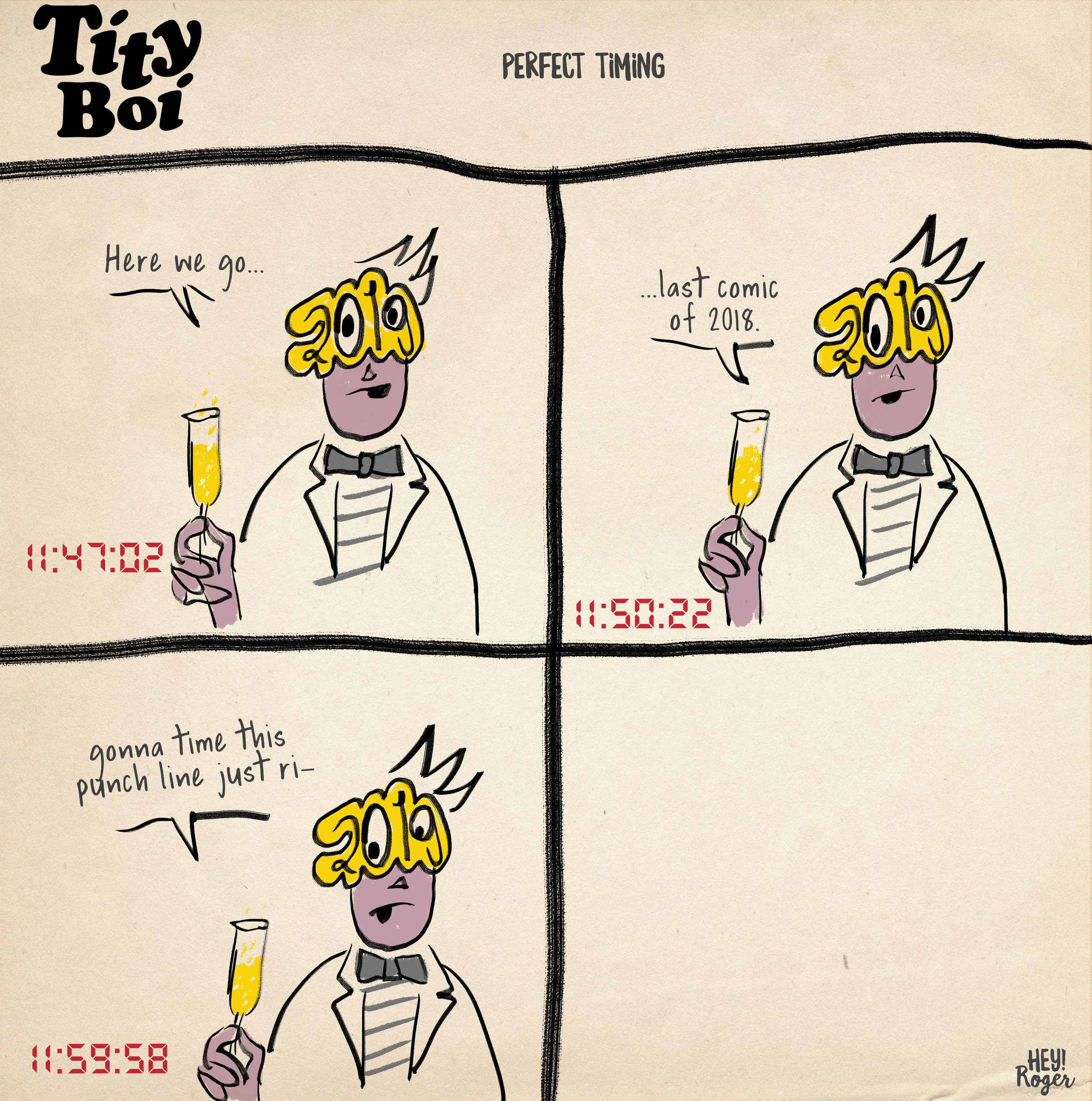 A webcomic about New Years Eve 2018.
