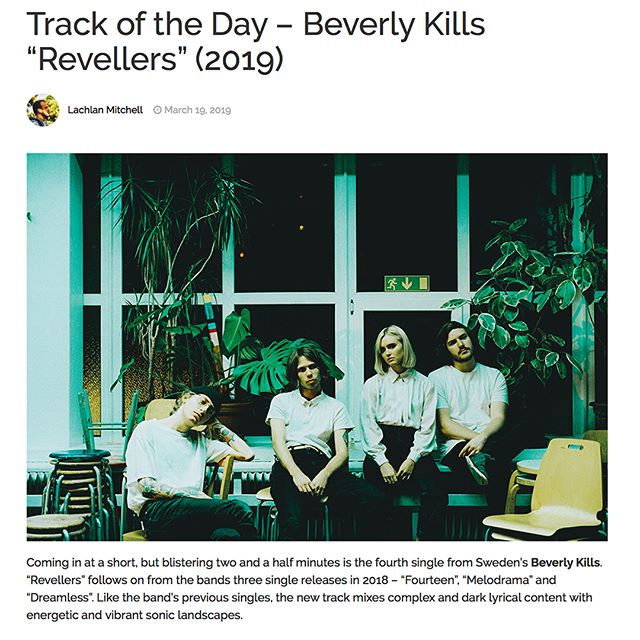 Thanks to all of the Aussies getting around @beverlykillsforever!  We love @theaureview // @music_injectionaus // @thepartae !!! Link in bio x
