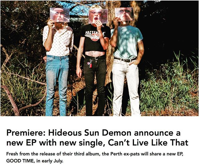 New @hideoussundemon!!!!! 'Can't Live Like That' is out now🔥 Massive thanks to Hayden over at @pilerats_ for the nice words.