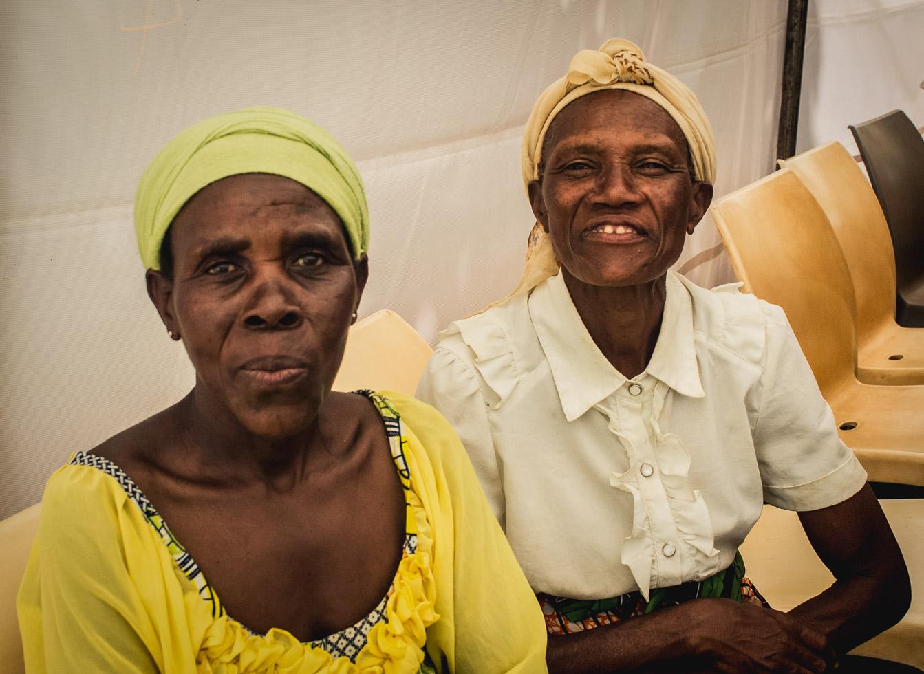 Humanitarian image of women, advocating hope
