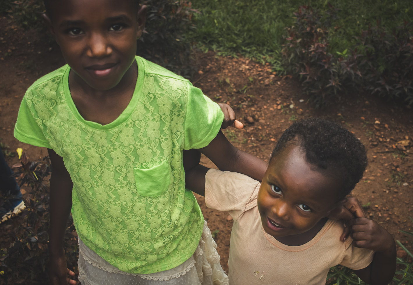 Sister in a loving embrace, choosing joy, advocating hope