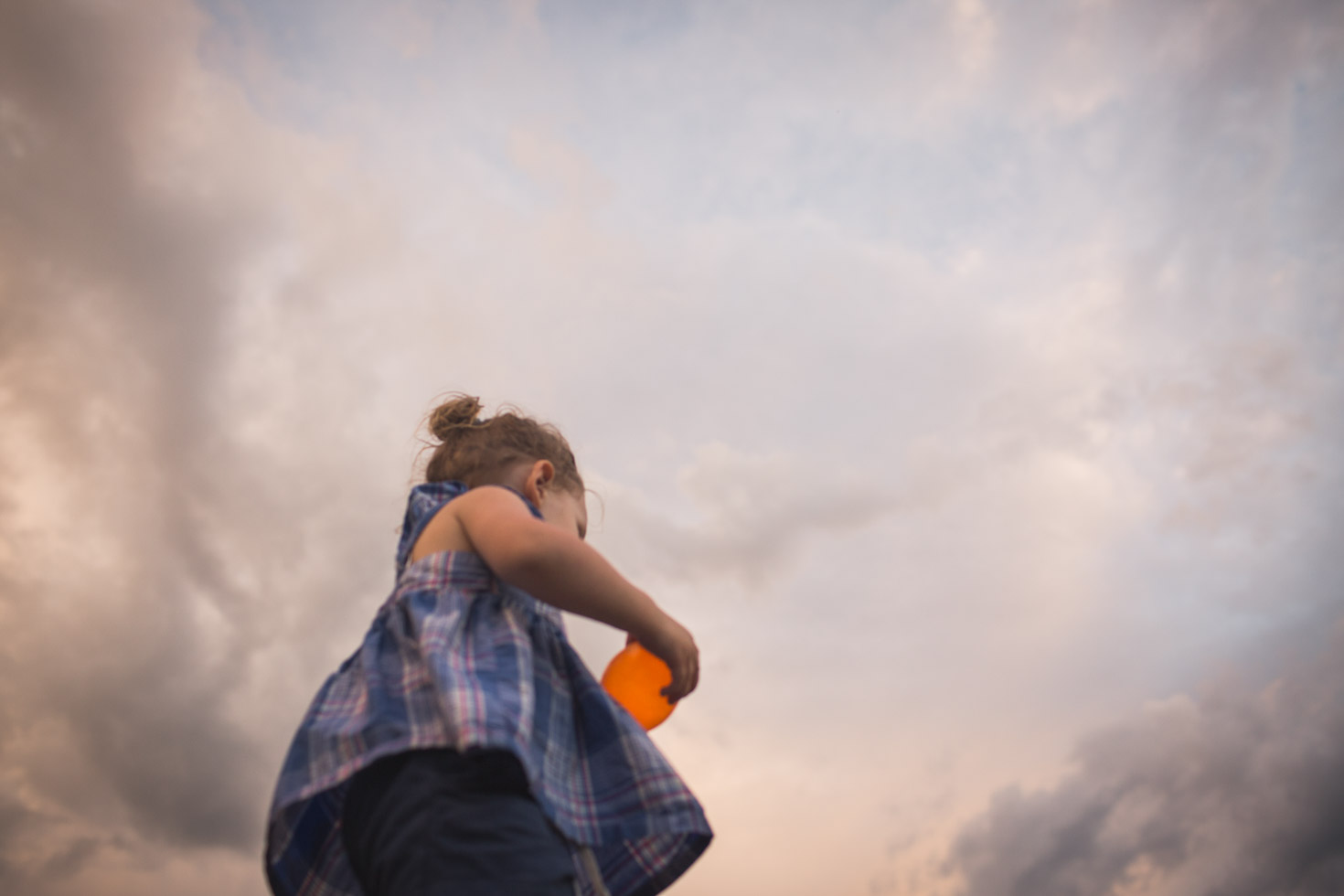 Girl Walking, sky is her limit, clouds, wind, connection