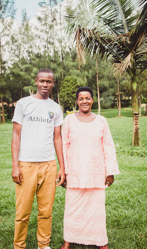 Portrait of Mother and son in Rwanda