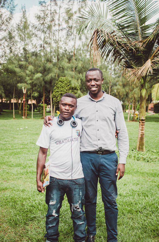 Portrait of child and mentor in Rwanda