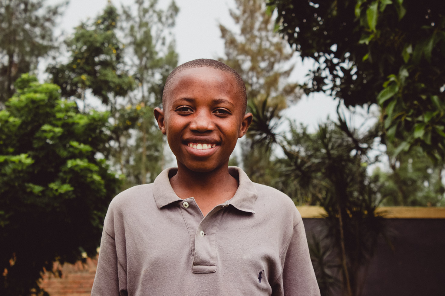 child at academy in Rwanda
