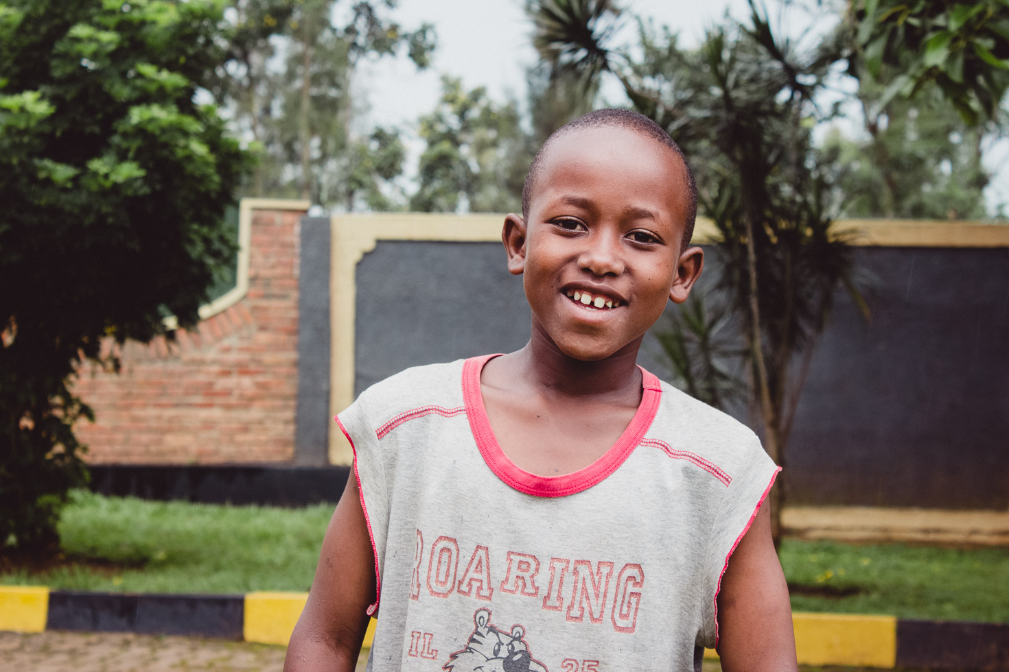child enjoying himself in Rwanda