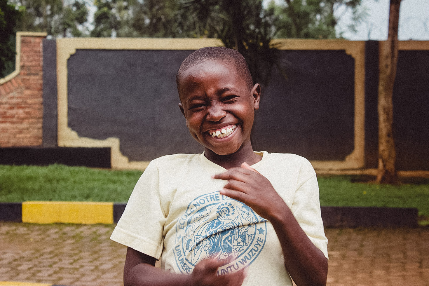 child full of joy in Rwanda