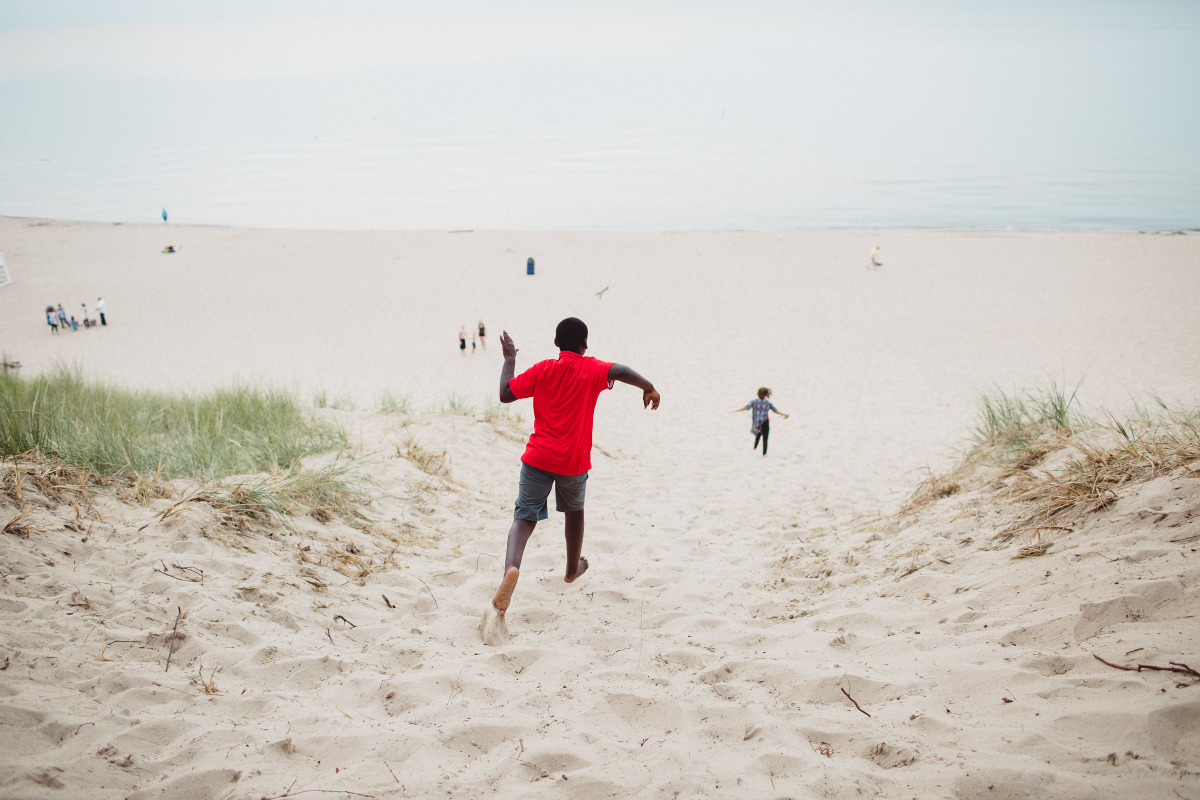 running down the sand hill