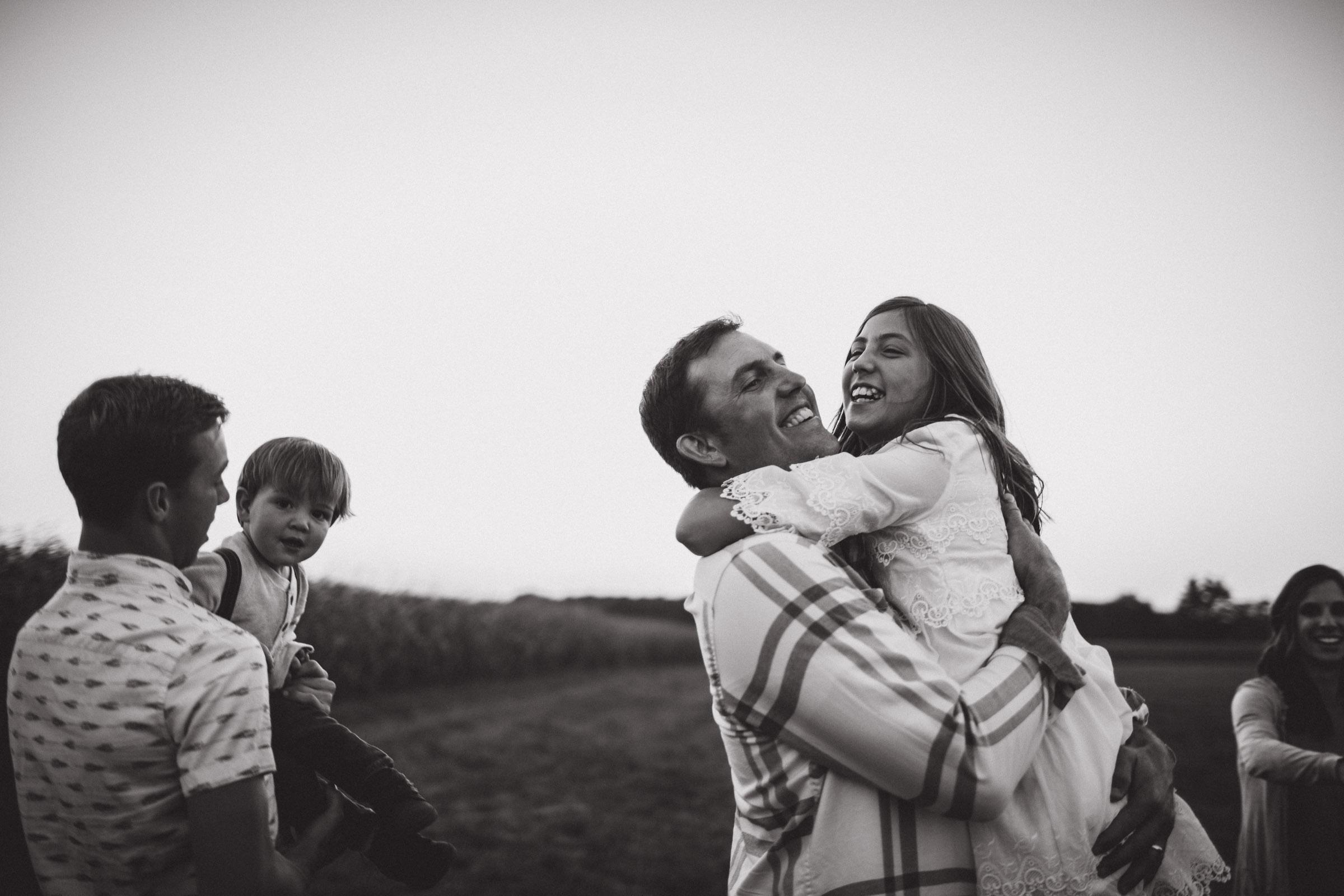 hugs of joy during dancing