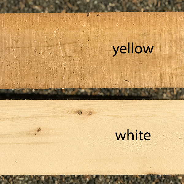 aged lumber vs. freshly cut lumber
