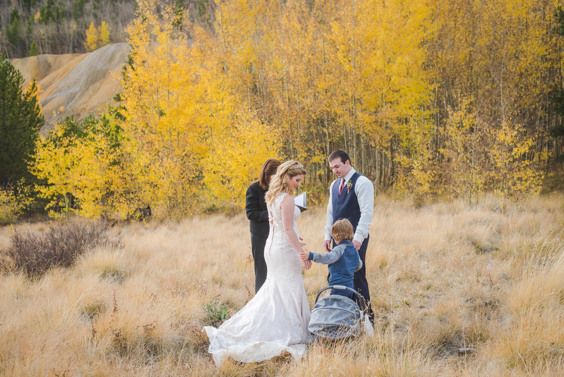 Autumn elopement in Breckenridge, Colorado | Two young boys | Summit Mountain Weddings
