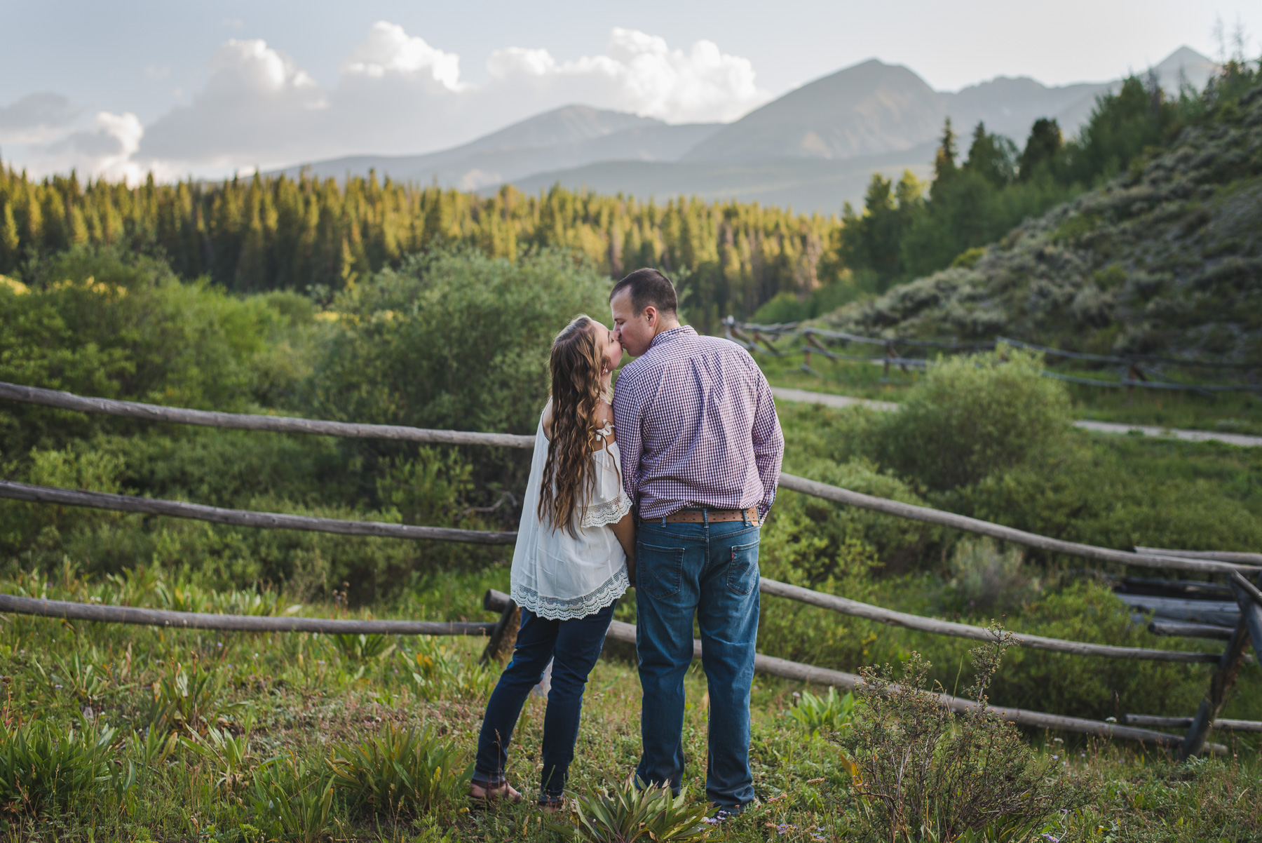 summer destination anniversary and honeymoon portraits in colorado rocky mountains | summit mountain weddings