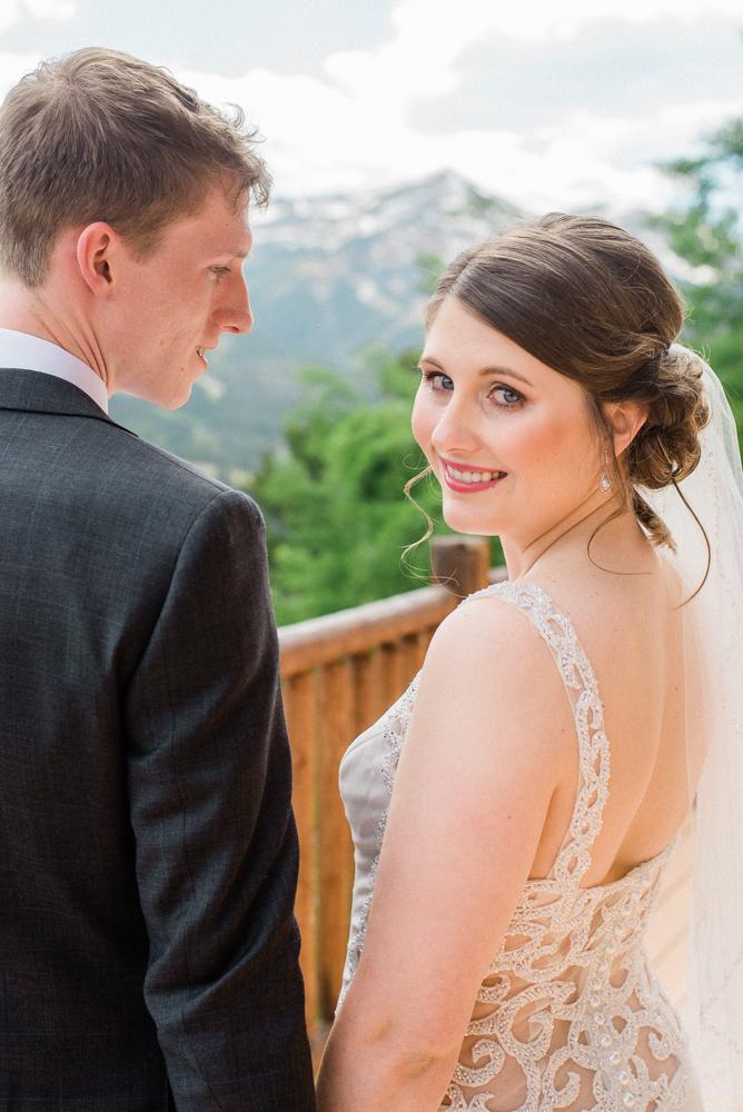 colorado bride at lodge at breckenridge elopement