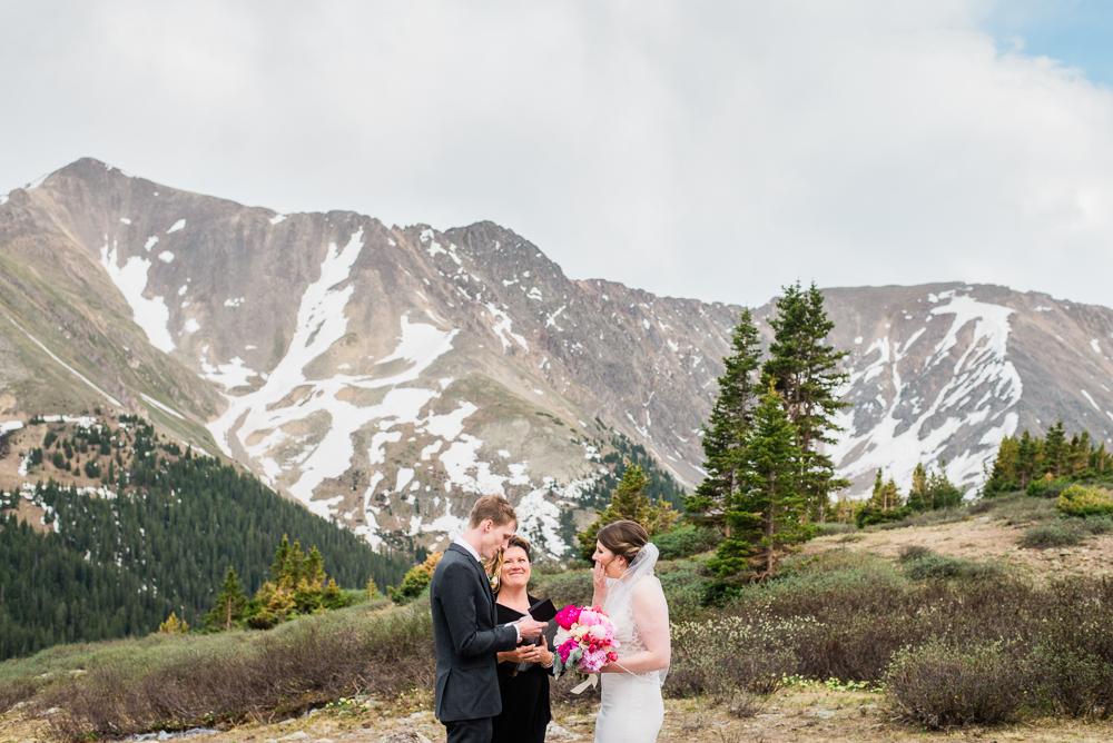 colorado mountain elopement high alpine big mountains