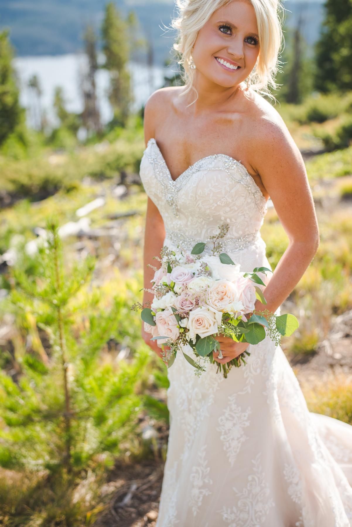 bridal bouquet summer colorado bride