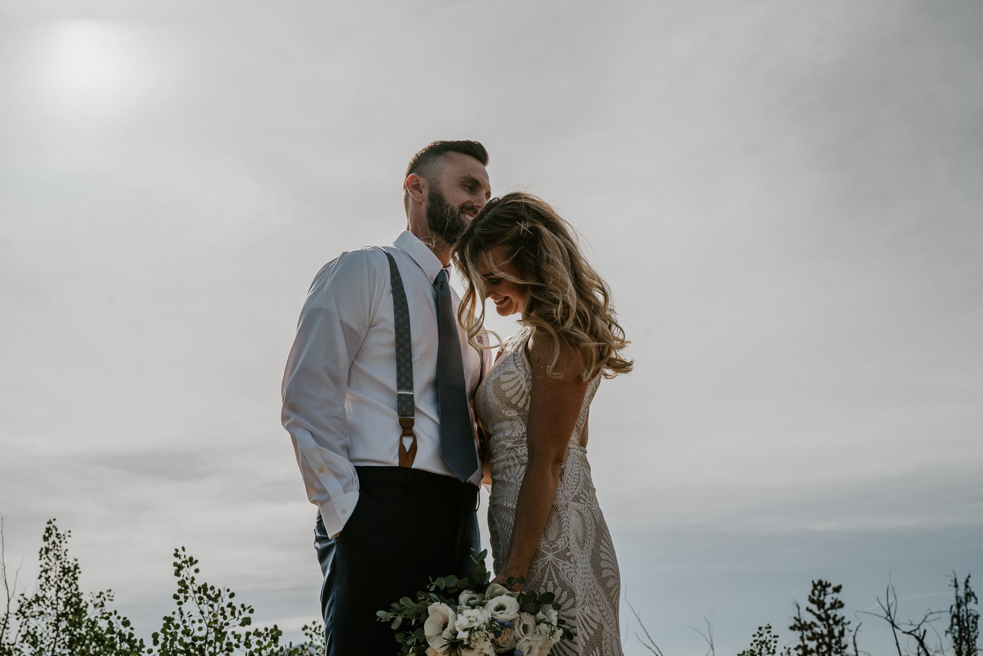 summit mountain weddings bride portrait colorado
