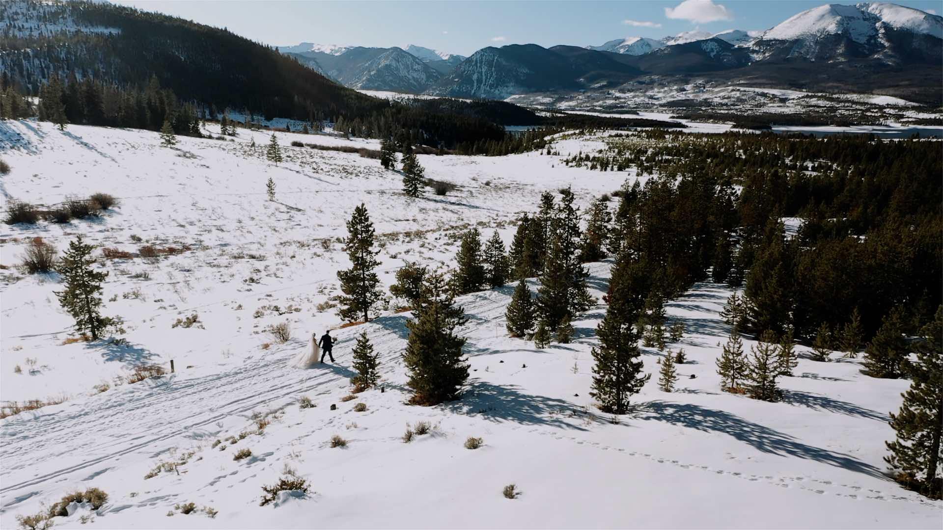Winter elopement in summit county
