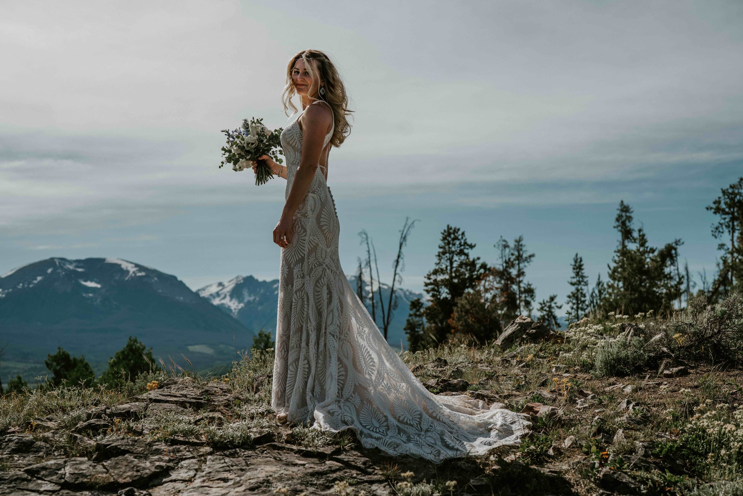 colorado bride and groom elopement prayer by lake dillon   summit mountain weddings