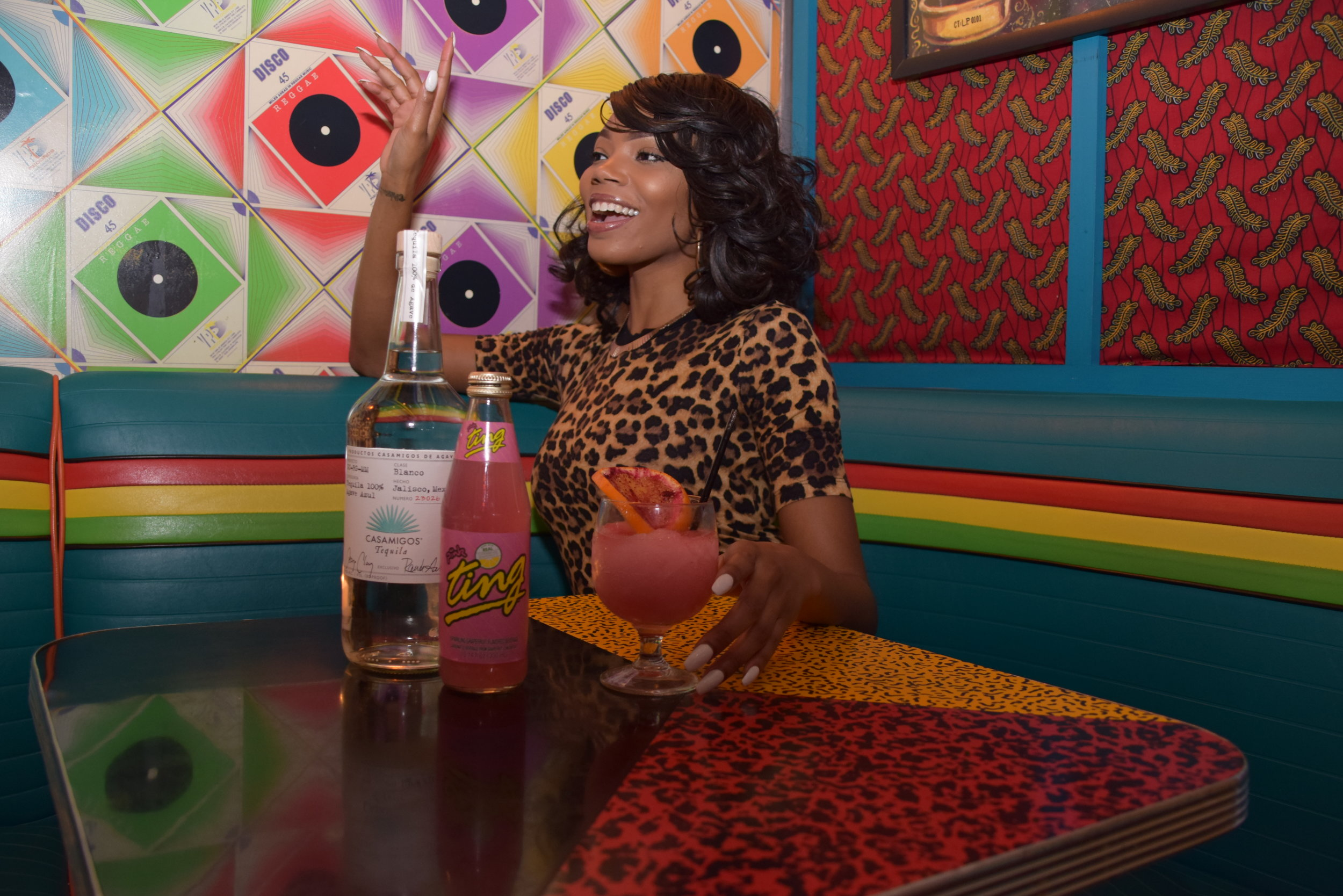 Created with Pink TING, Miss Lily's newest cocktail, Lily's Frozen Ting, is the newest burst of Jamaican sunshine in NYC.