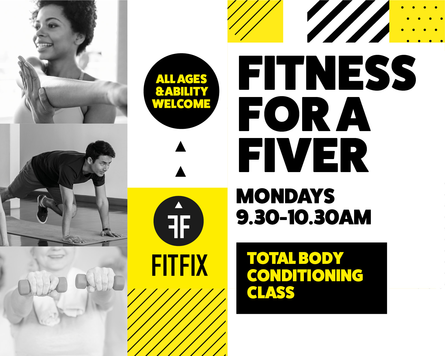 Fitness For a Fiver - Looking for a friendly fitness classto kick start your week? Why not tryour new class in Forest Hill:MONDAYS9.30-10.30AMHope Centre 118 Malham Rd,Forest Hill, London SE23 1A