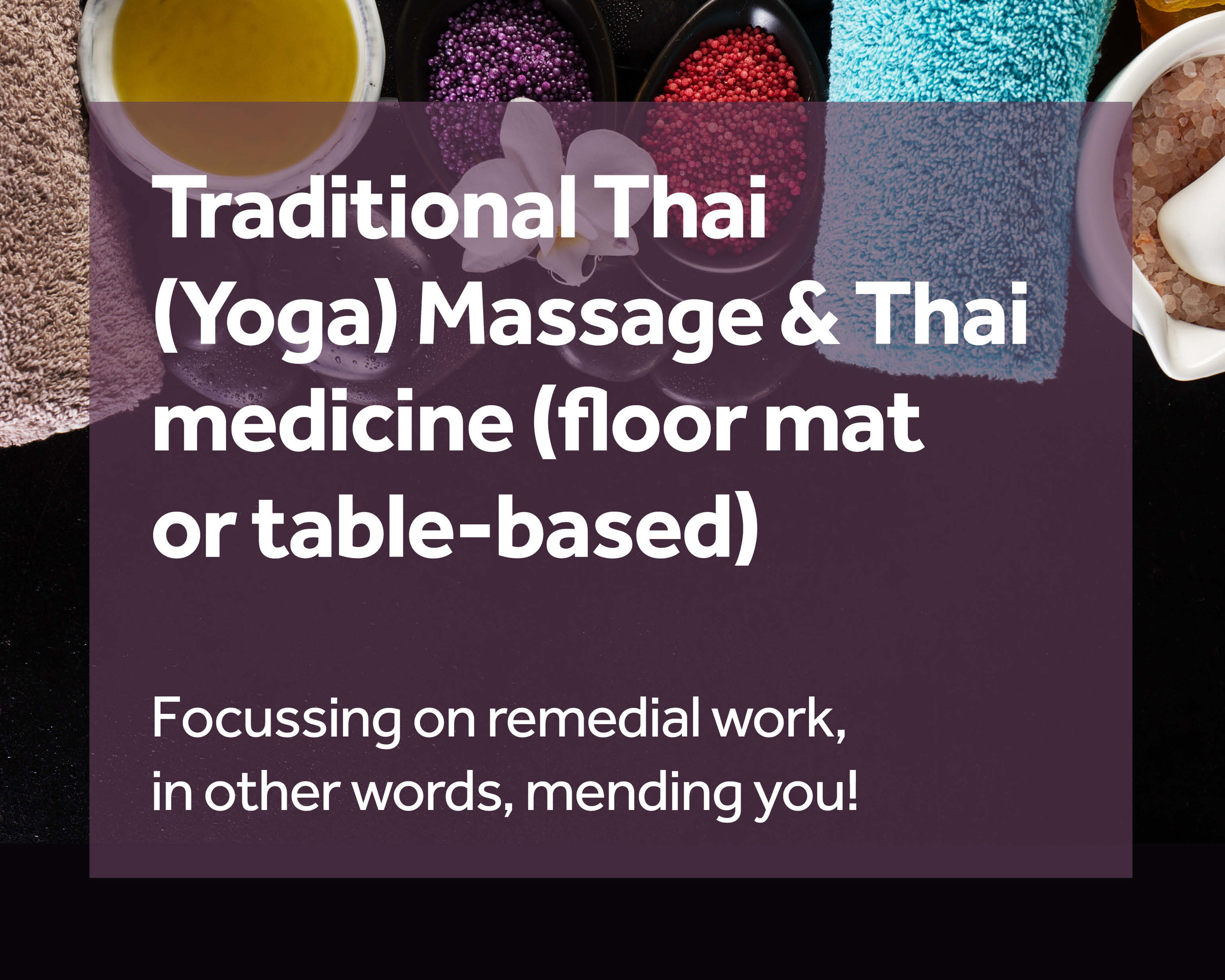 Thai (Yoga) Massage & Medicine - Combining gently-applied stretches, soft (or deep if requested) muscle softening and acupressure techniques. Tight/tense tissue; Headaches; Cramps; Nerve-like pains. Discounts for first appointments and batch-booking. Treatment vouchers offered.Paul Davis (MFHT) Spiritual Thai - Traditional floor-based Thai Massage and associated Therapeutics 07501 978 509 @SpiritualThai mobile-remedial-holistic-services@protonmail.com