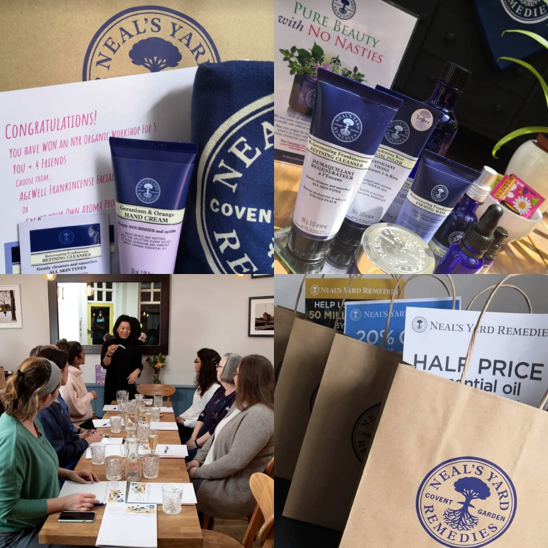 For all your Neal's Yard Remedies - Sharon is a local Independent Consultant, offering free skincare Consultations (with a Mini Facial) a Personal Shopping Service and fabulous benefits for hosting Parties and Workshops using Neal's Yard Remedies products. Ask about convenient free local delivery too.Email Sharon: sharon@sortiz.co.uk