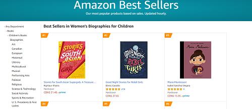 Amazon Canada: #1 Women's Biographies for Children