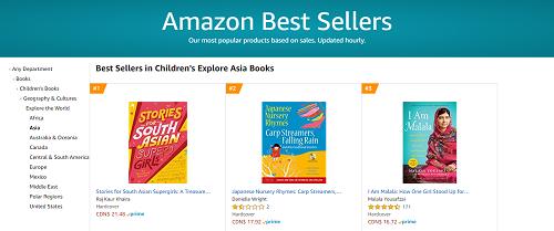 Amazon Canada: #1 Children's Explore Asia