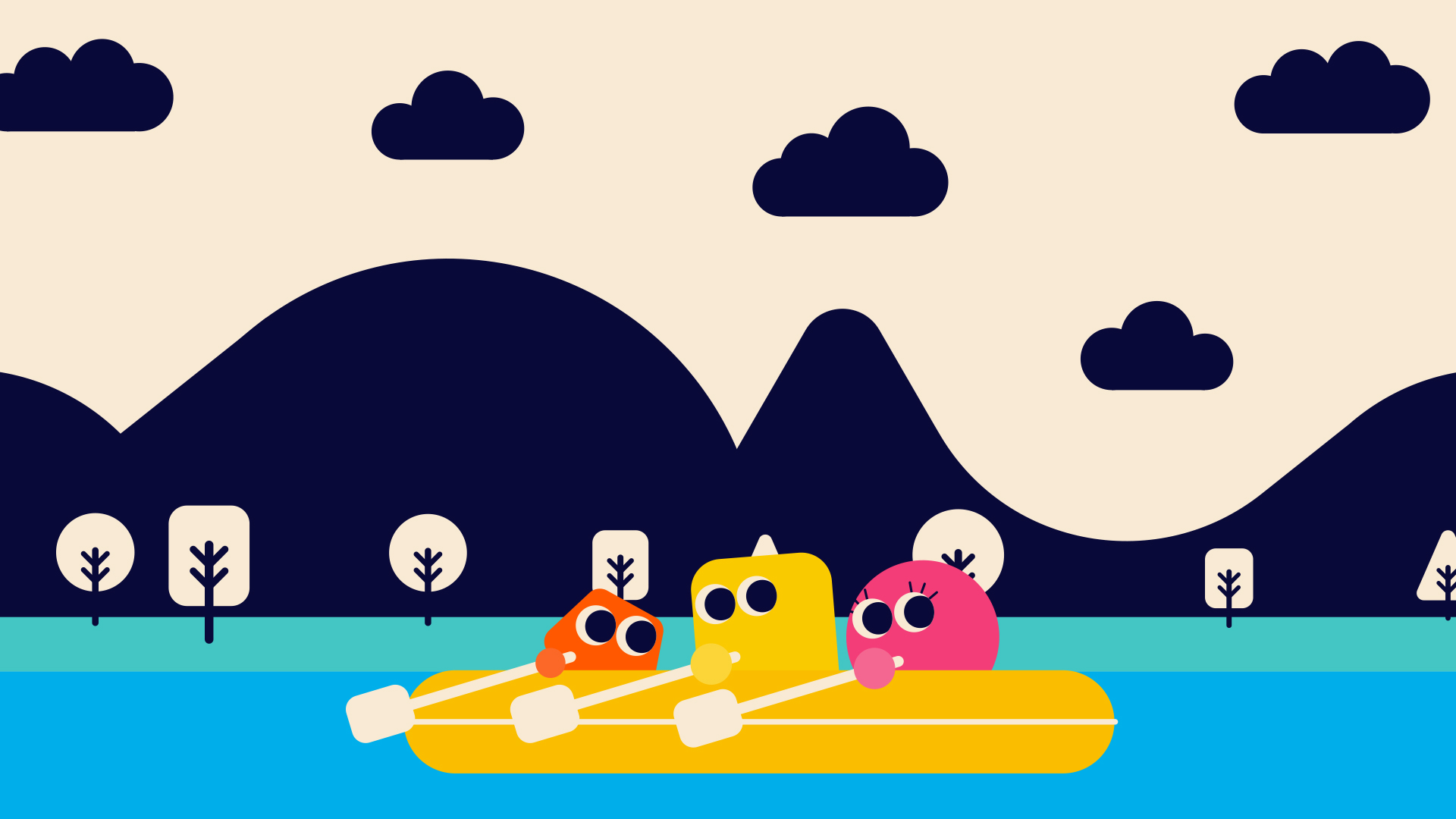 SCOUT--Skills-for-life---Young-Illustration-&-Animation-Studio-Manchester-2D,-characters,-shapes,-rowing,-kayak--countryside,-outdoors,-waves,-hills,-teamwork.jpg