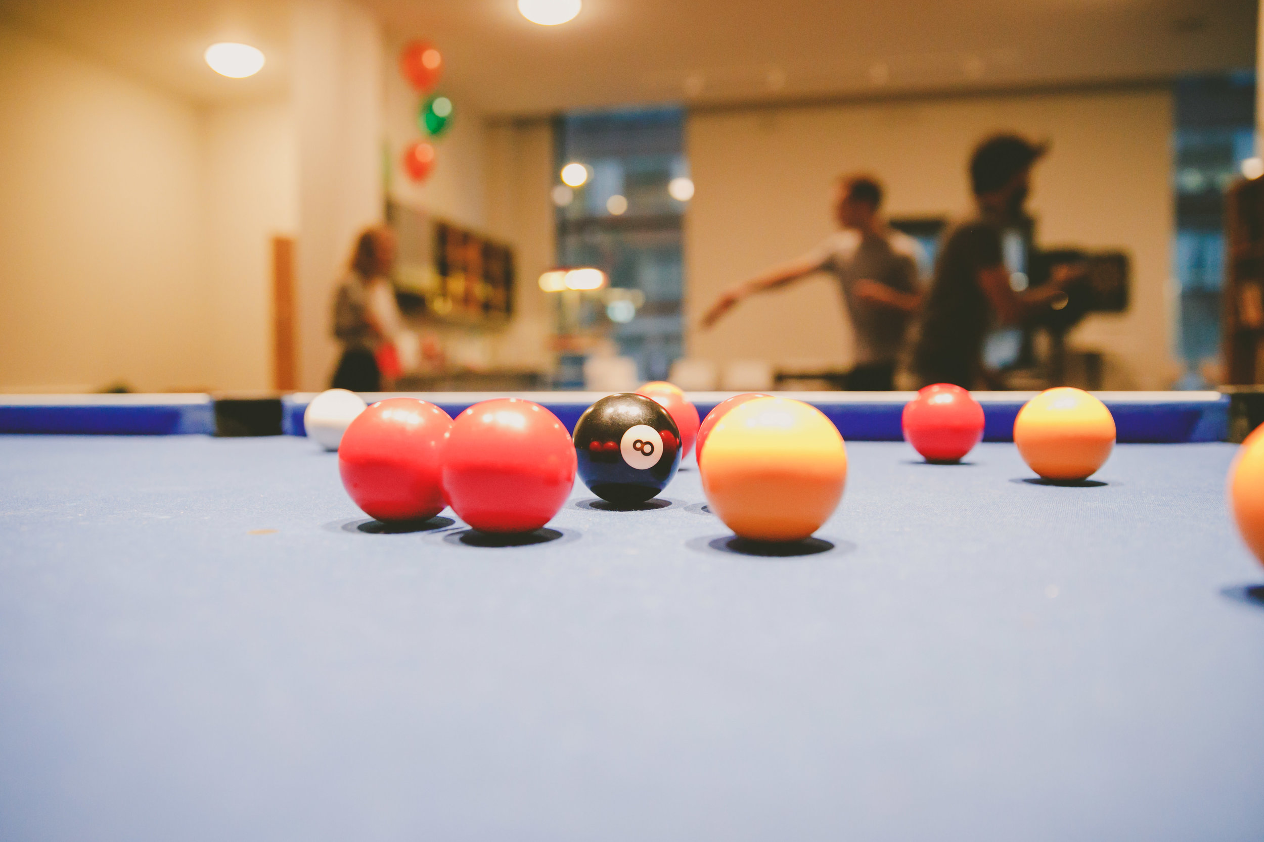 Pool table in Bryson Court Social Area