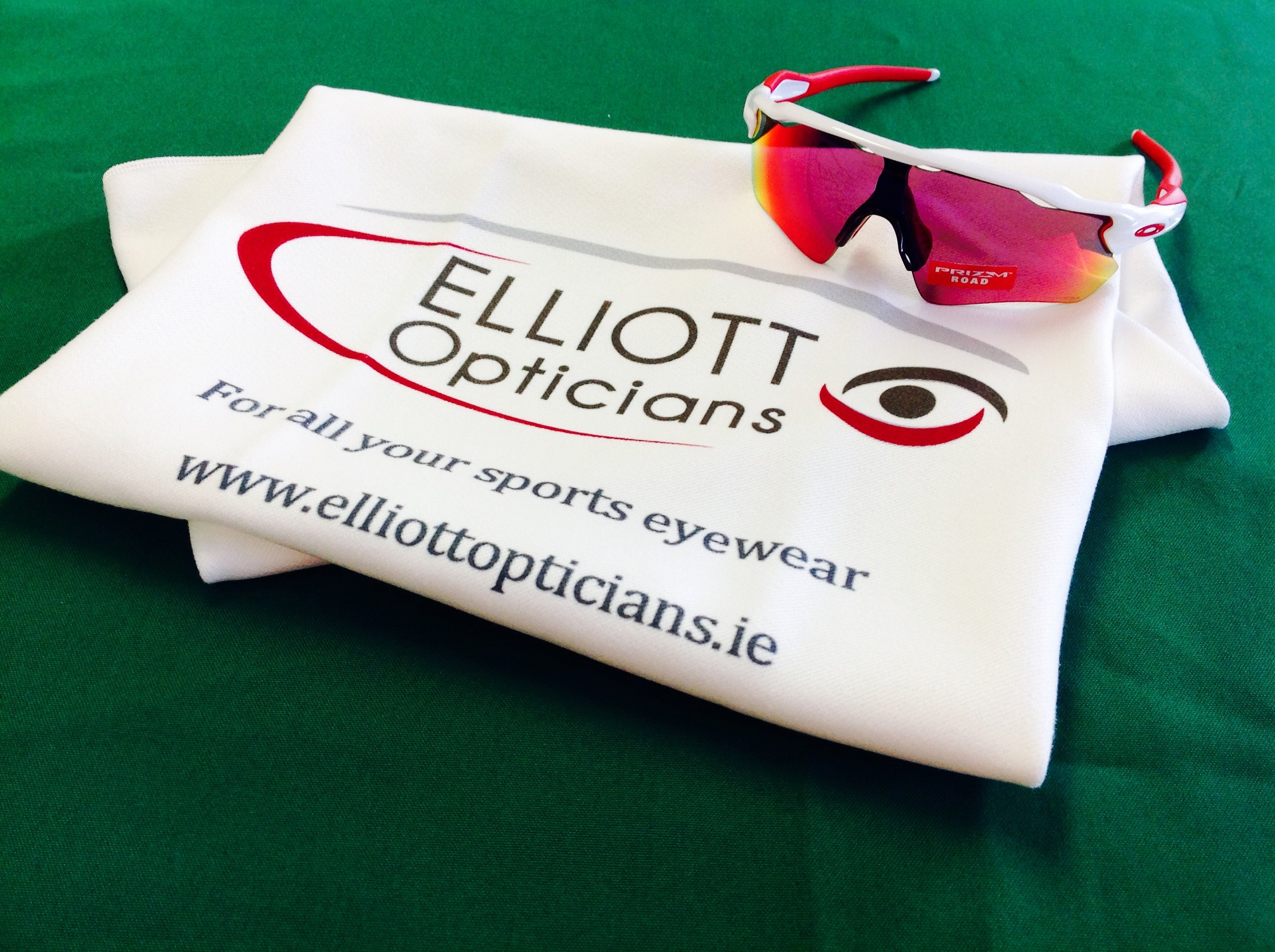 Receive your free Elliott Optician's sports towel when you buy any sport's sunglasses in store. We offer a wide range of sunglasses for all types of sports. Pop in at your convenience and we can help you choose the perfect pair. - Receive your free Elliott Optician's sports towel when you buy any sport's sunglasses in store. We offer a wide range of sunglasses for all types of sports. Pop in at your convenience and we can help you choose the perfect pair.