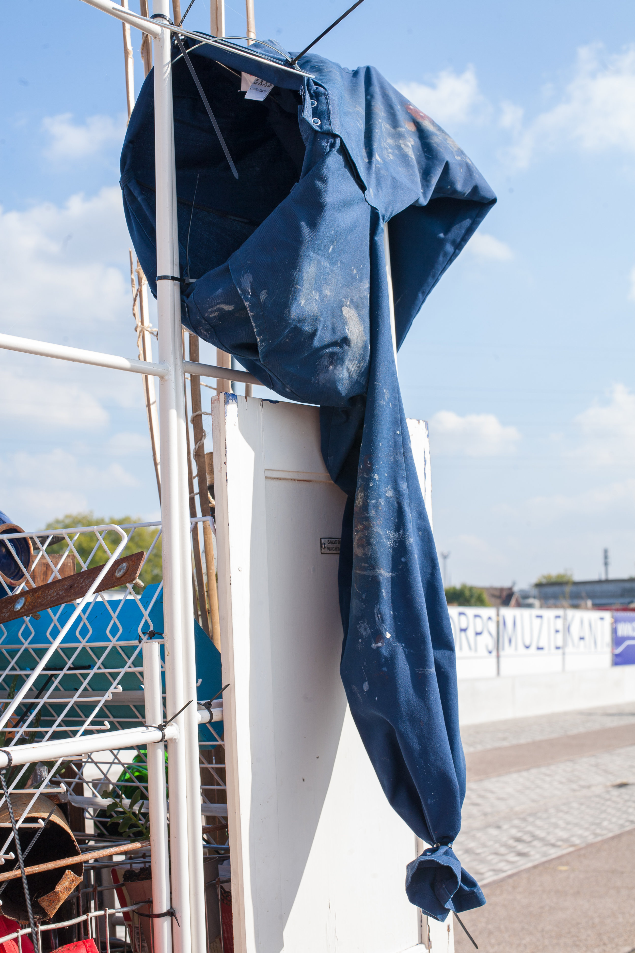 Blue working pants
