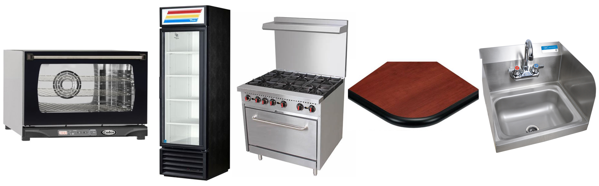 Get anything you need from countertop cooking equipment, to heavy duty equipment! Don't forget about our hand sinks and furniture!