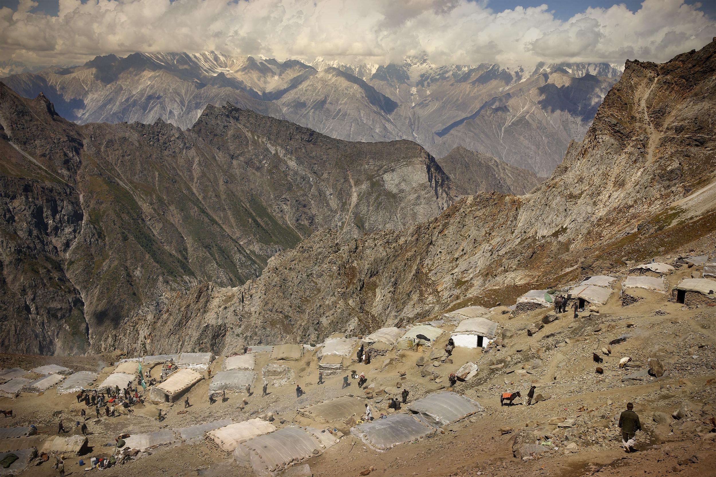 Gemstone Mining Camp, Northern Pakistan, 2015.