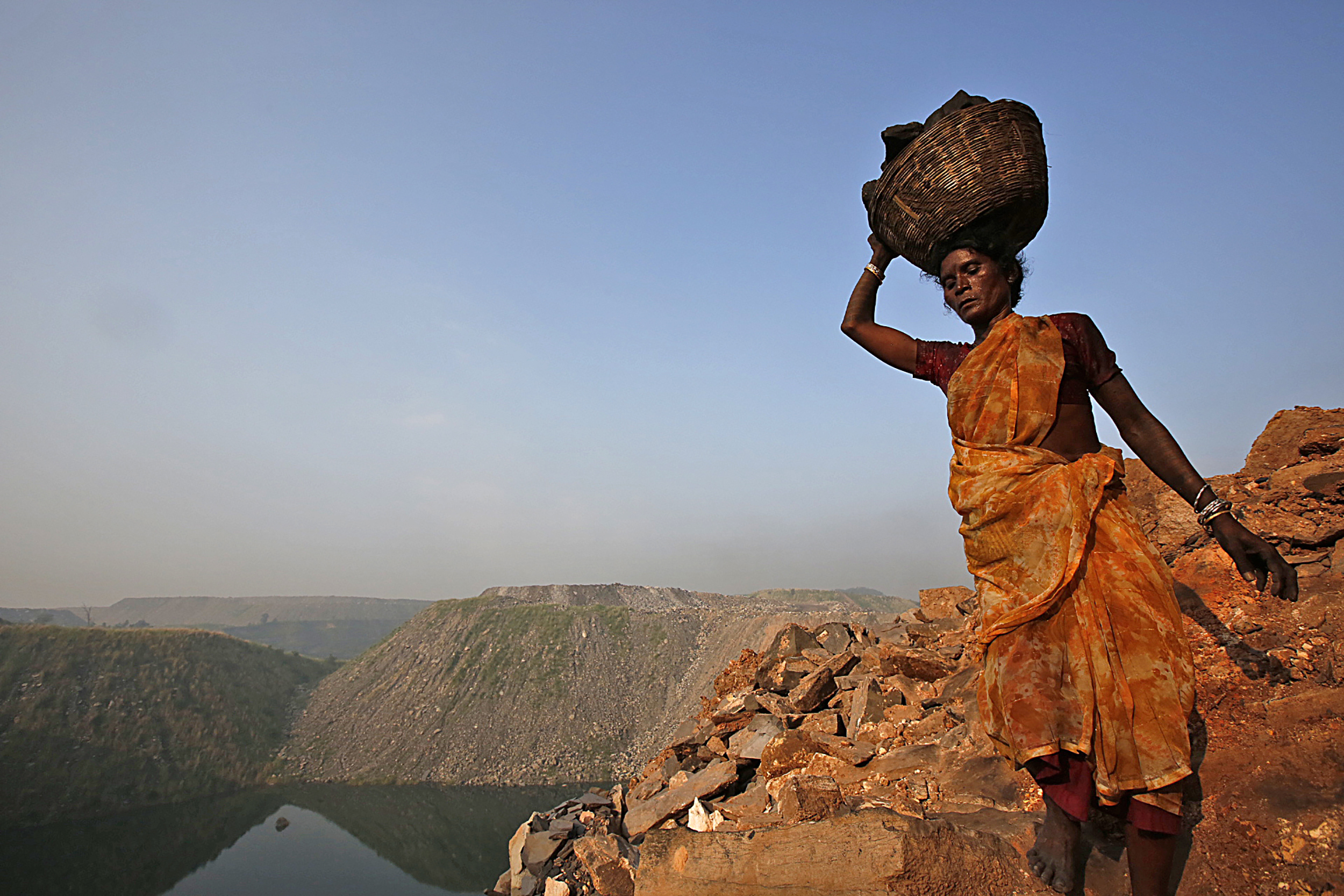 Illegal Coal Scavenger, Eastern India, 2013