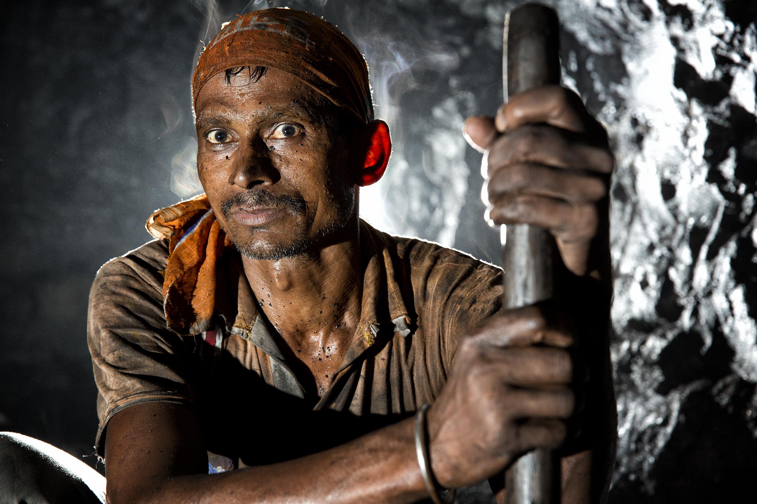 Underground Coal Miner, Eastern India, 2013