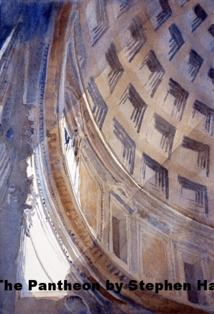 The Pantheon, Rome, 118-125, Watercolor by Stephen Harby.jpg