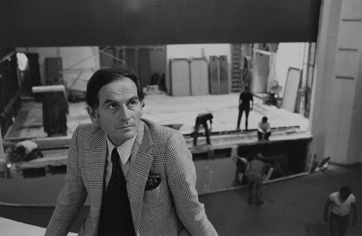 Pierre Cardin at the St. James Theatre, 1977. Photograph by Ivan Farkas.jpg