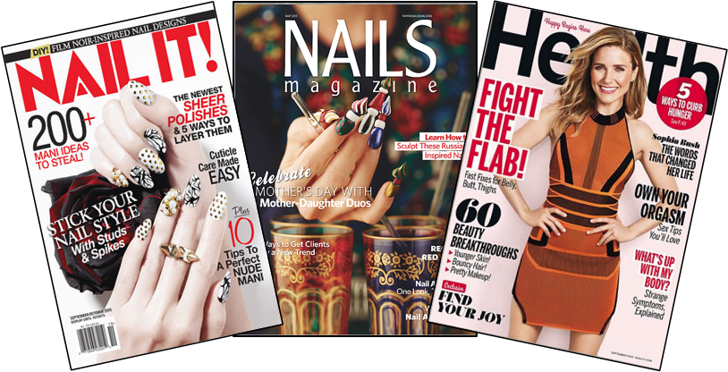 Some of the many magazines that feature Lexi's work