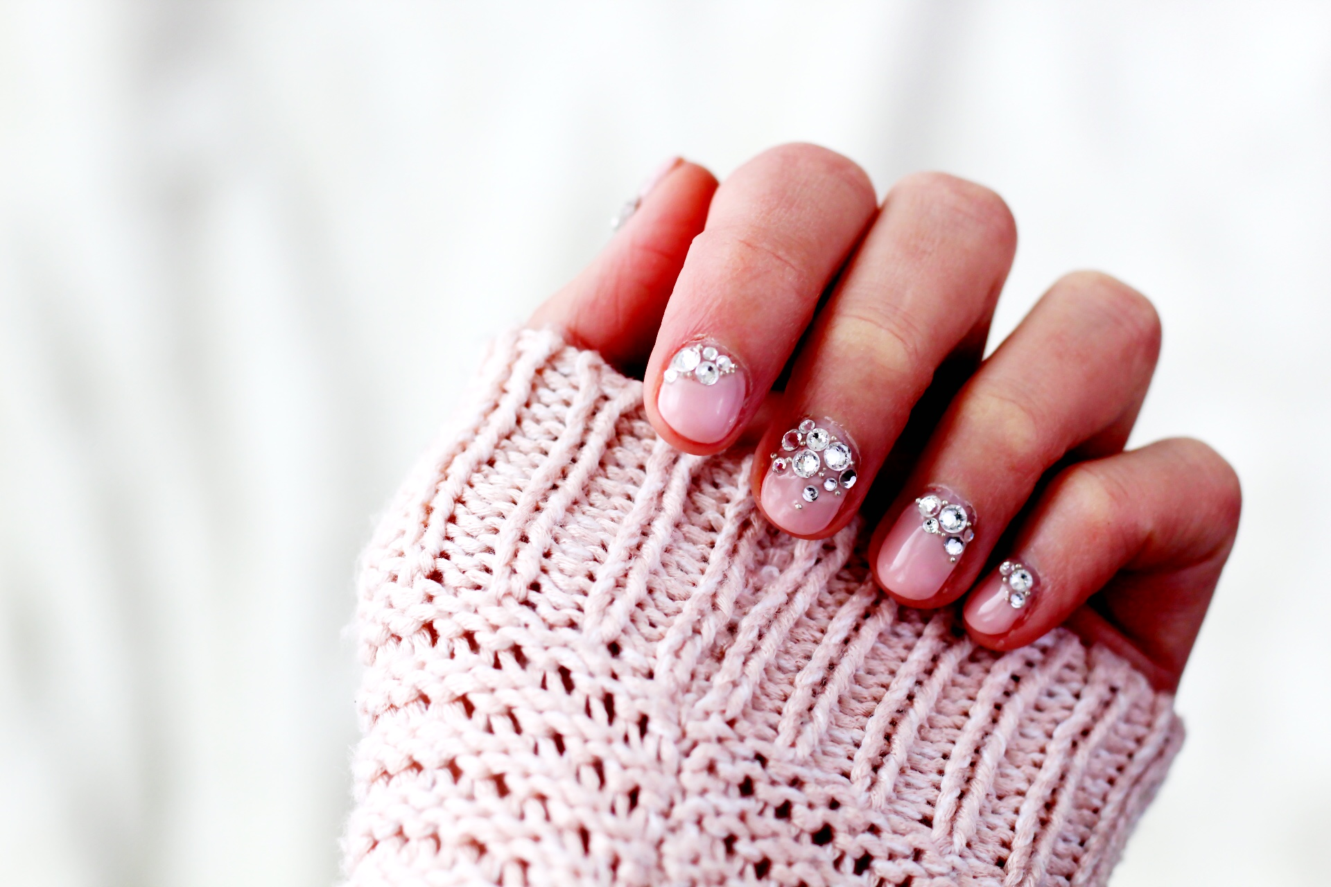 Final result! Beautiful sparkly nails!