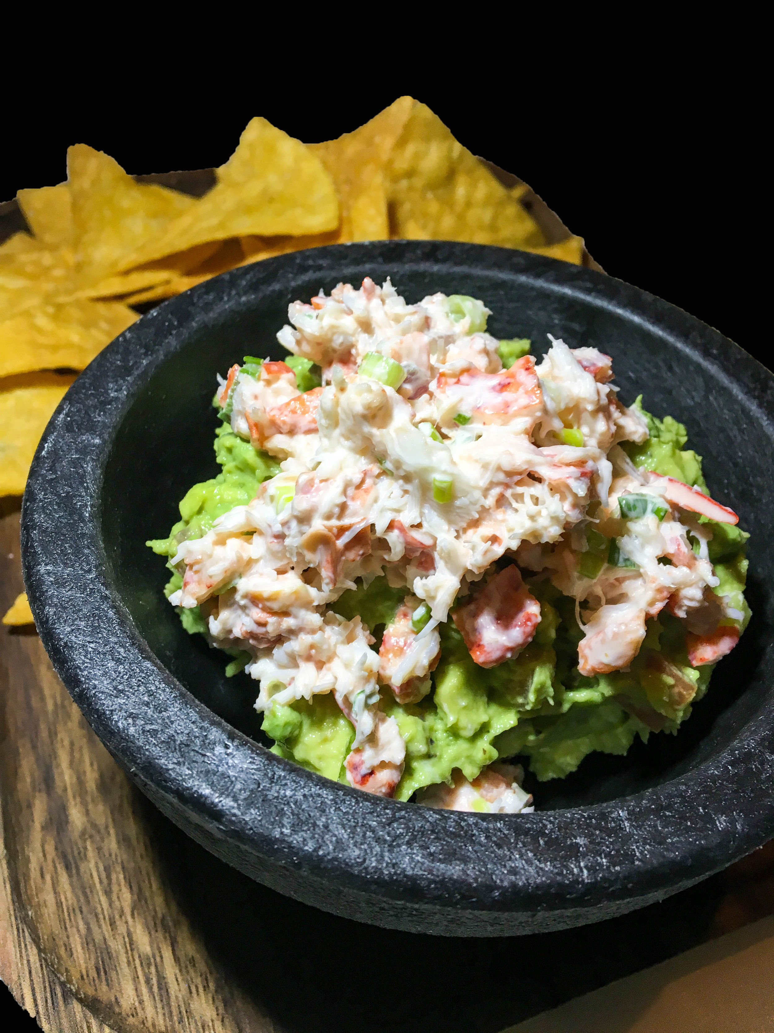Lobster Guacamole - Red Pepper, Tomato, Red Onion, Lime Juice