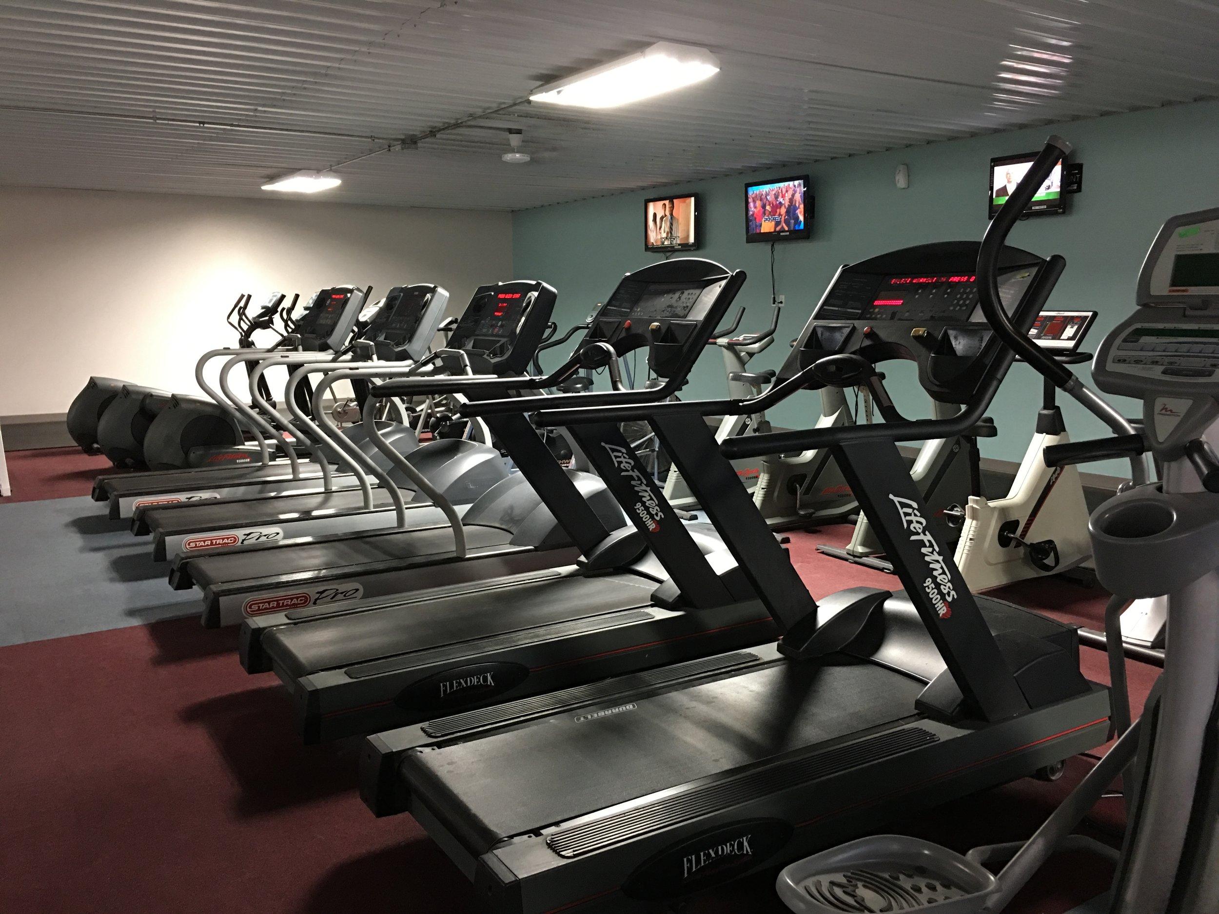 Treadmills in Cardio Area on 2nd Floor