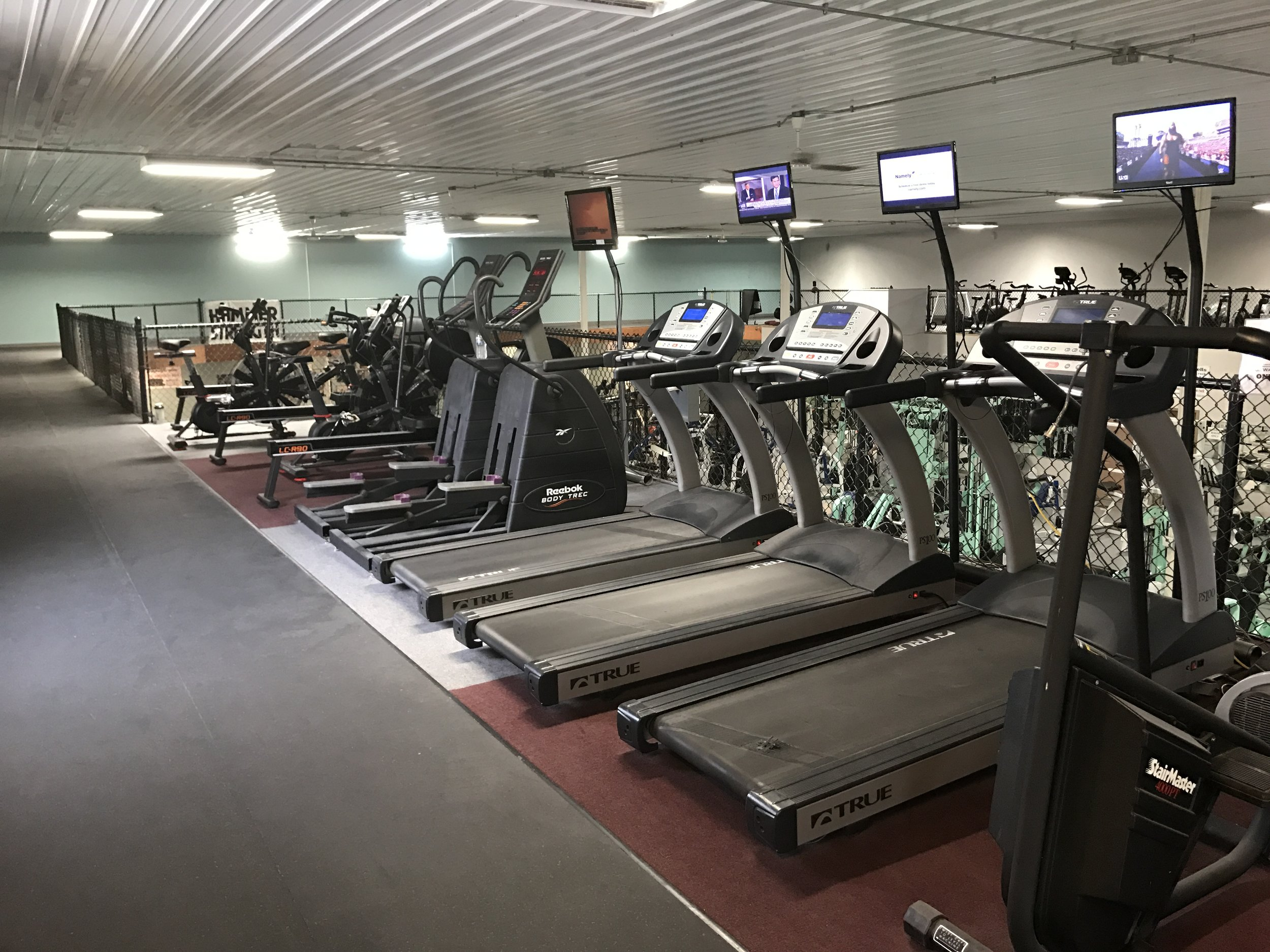 Steppers, Treadmills, Rowers, Bikes & Low Impact Lap Track on 2nd Floor