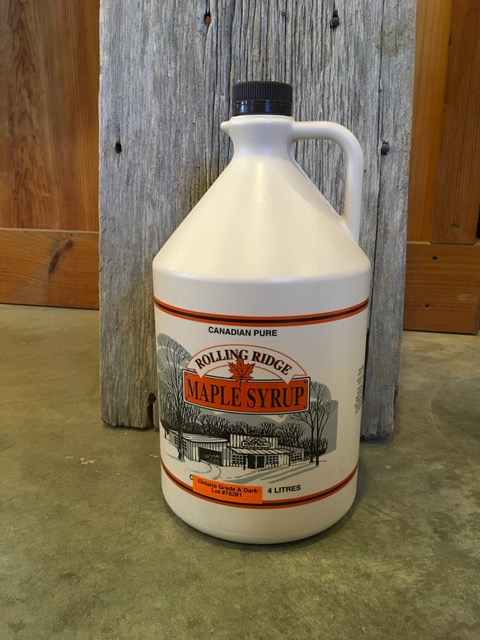 4 L Rolling Ridge Maple Syrup~ $55.00