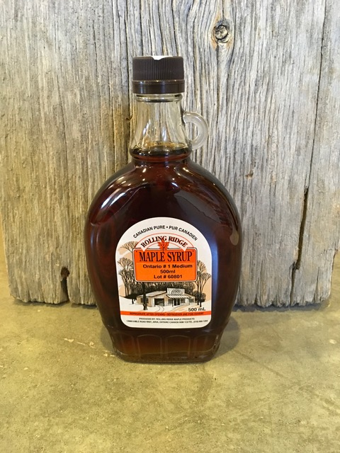 500 ml Rolling Ridge Maple Syrup~ $10.00
