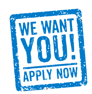 We want you apply now blue square.png