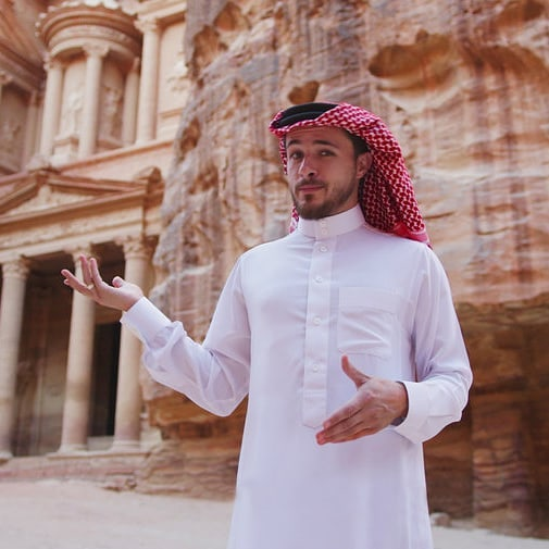 #TB to Omer The Admissions Guy promoting both King's and Jordan at the same time.  @kingsacademyjor #jordan #shareyourjordan #petra #jordantourism