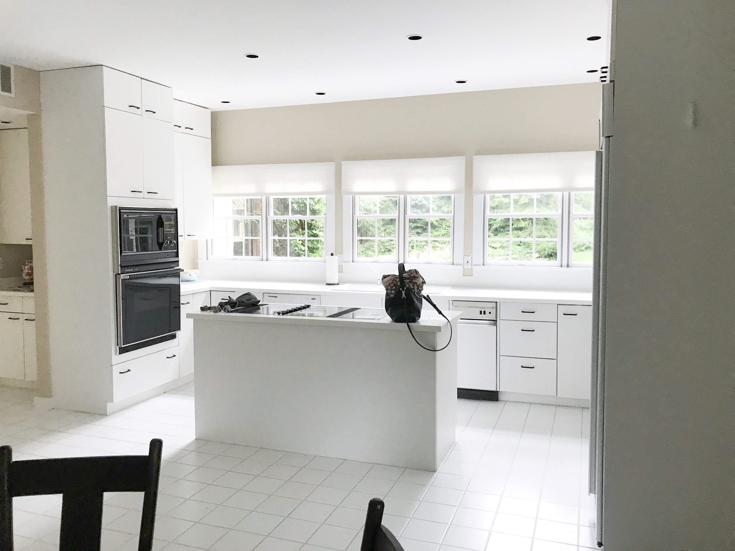 outdated white kitchen