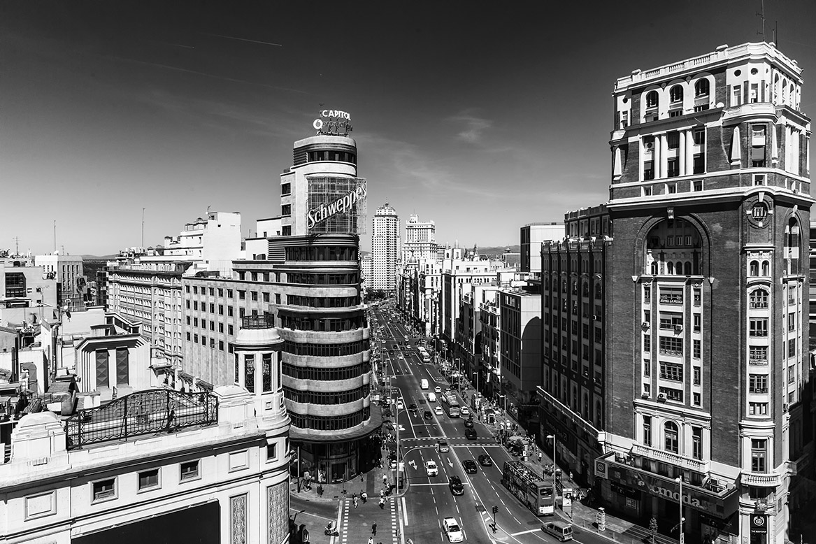 Panoramic View Of Madrid